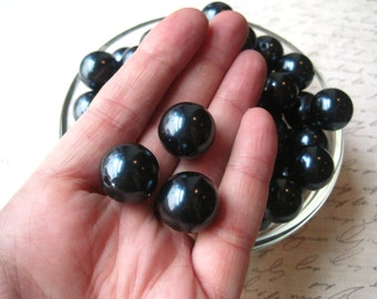 Pearl Bead, 10 pcs Navy Blue Gumball Beads, 16mm Dark Blue Pearl Bubblegum Beads, Faux Pearl Beads, Necklace Beads