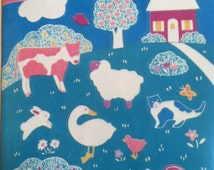 Barnyard animals, cow, duck, sheep, rooster and more stickers,1990's