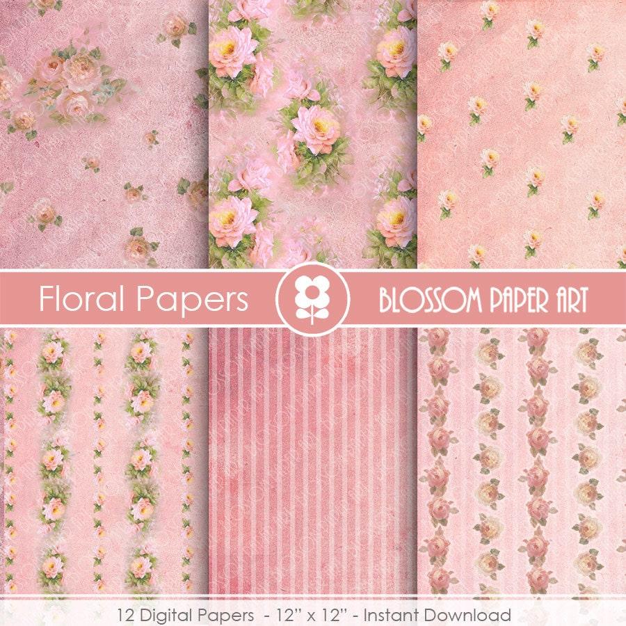 Rosas para imprimir papeles decorativos por blossompaperart - Papeles decorativos de pared ...