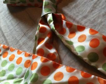 Vintage Polkadot Womens Necktie Scarf