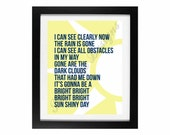 I Can See Clearly Now by Johnny Nash | The Sunshine Collection: Printable No. 4 - INSTANT DOWNLOAD