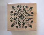 """Whispers Medallion Geometric Floral Ornament  Rubber Stamp Stencil Size 2"""" Length E611s"""