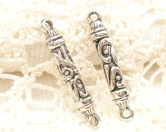 Ornate Tribal Pole Column Long Rectangle Connector Finding (4) - SF71