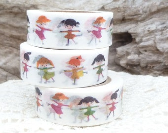 Ballet Dancer Children Washi Tape - AA656