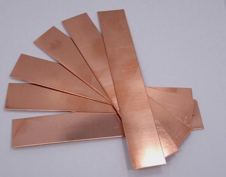 Raw Copper Sheet Bracelet Cuff Blanks 6 X 1 26ga