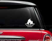 "Harry Potter Inspired ""Order Member"" Vinyl Car Decal - For Order of the Phoenix Members"