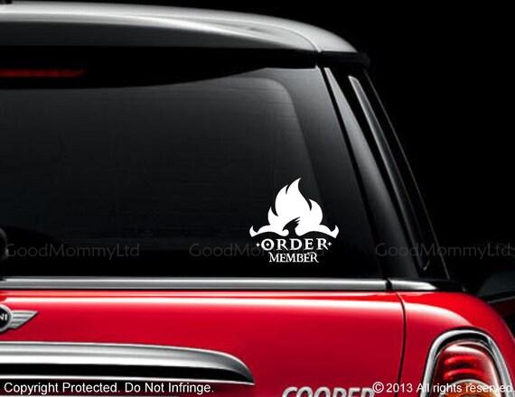 Harry Potter Inspired Order Member Vinyl Car Decal
