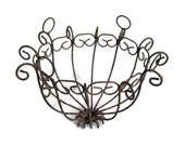 Curly Wire Hanging Basket Frame Shabby Rustic Garden