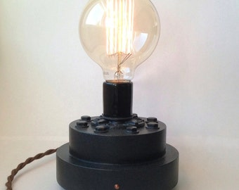 Industrial Table Lamp. Dimmable. Apartment Therapy Lamp.