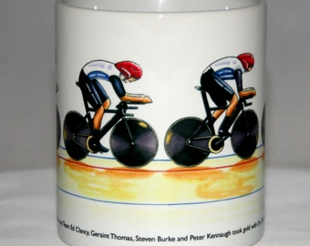 Cycling Mug. Ed Clancy, Geraint Thomas, Steven Burke and Peter Kennaugh London 2012 Olympics