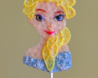 Frozen Princess Elsa Beeswax Birthday Candle
