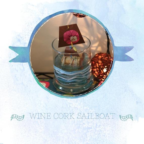 WIne Cork Sailboat