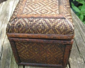 wood vintage box with lid, for your treasures 1980's or earlier