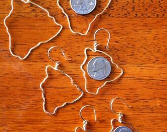 Hawaii Big Island Earrings 14k gold filled rose gf Hawaii Jewelry small