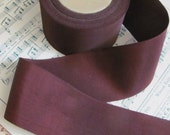 "Vintage Grosgrain Petersham Ribbon 2"" Inch Wide - 2 Yards Total - Brown (#104)"