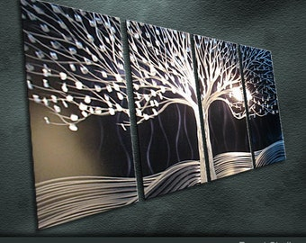 "Modern Original Metal Wall Art Abstract Special Painting Sculpture Indoor Outdoor Decor ""Tree of Life"" by Ning"