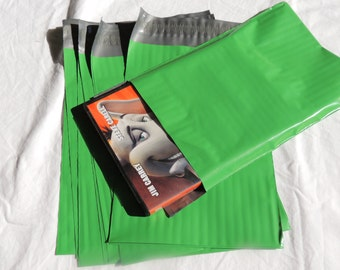 20 Green 6x9 Poly Mailer Envelopes, 6x9 Flat Self Sealing Poly Mailing Flat Plastic Shipping Bag Mailers
