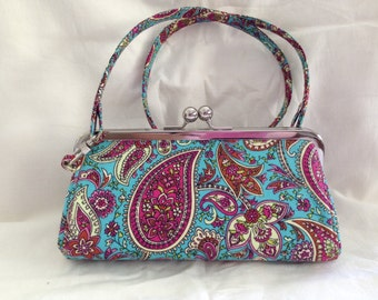 Framed Clutch Purse with Strap.....