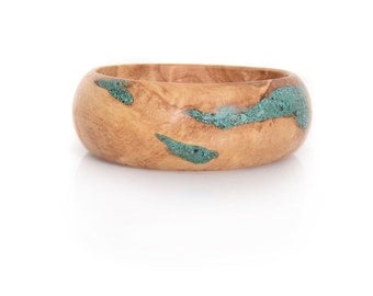 Wood bangle with Eilat stone - Eilat Chic