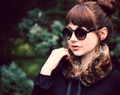 Faux Fur Collar in Golden Brown