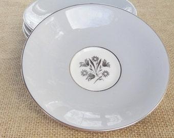 Royal Doulton Kingsmere Saucers, Set of 4, Hollywood Regency, Retro, Vintage