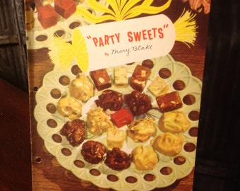 Vintage 1953 Carnation Milk Party Sweets by Mary Blake Cookbook Booklet