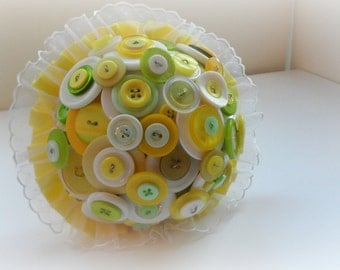 Yellow Meadow Button Bouquet
