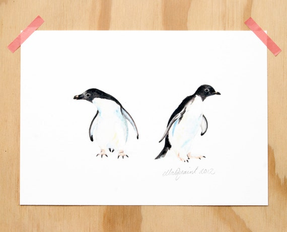 Adelie Penguins - an Aquatic Beastie print