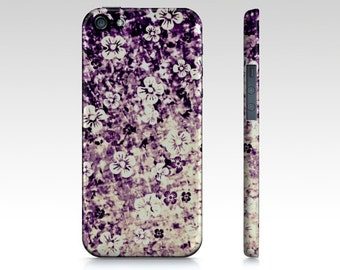 FLOWER POWER in Midnight Violet iPhone 5 5C SE 6 7 Plus Case Samsung Galaxy Floral Cover Eggplant Purple Lavender Lilac Ombre Abstract Art