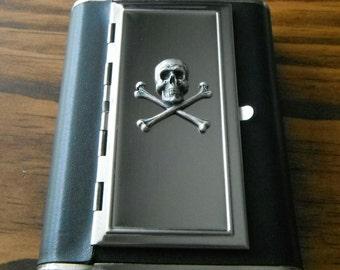skull flask ciggaret case