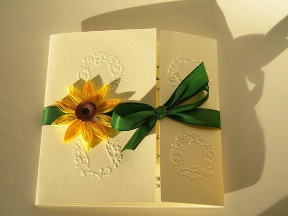 Partecipazioni Matrimonio Con Girasoli : Tuscany sonnenblume einladungen golf hochzeitseinladung