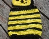 Crochet Bumble Bee Costume/Photo Prop