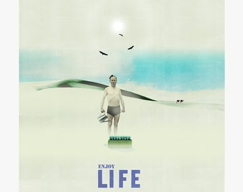 Enjoy life 6 - collage - mixed media - vintage -  29,7 x 29,7 cm