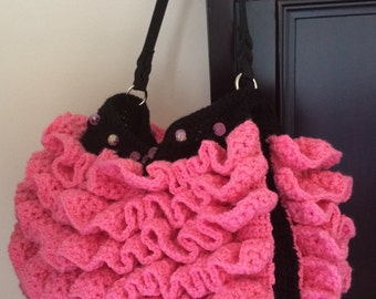 Ruffle Purse Crochet Pattern Only