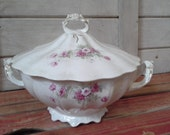 Vintage LaFrancaise Double Handled Covered Dish