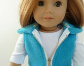 American Girl Doll Clothes - Lollipop Kids Bursting Blue 3 piece outfit