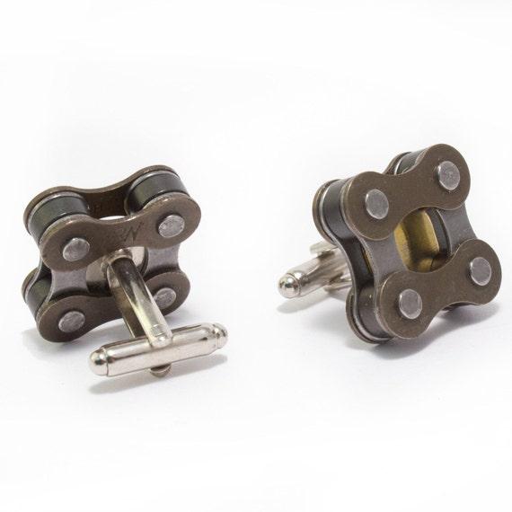 Bicycle chain cufflinks, chain cufflinks, Gift for Bicyclist, wedding cufflinks,  bike cufflinks, bicycle, cufflinks