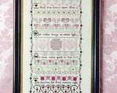 Indigo Rose Cross Stitch Chart, The Trus Love Sampler, Hearts, Celtic