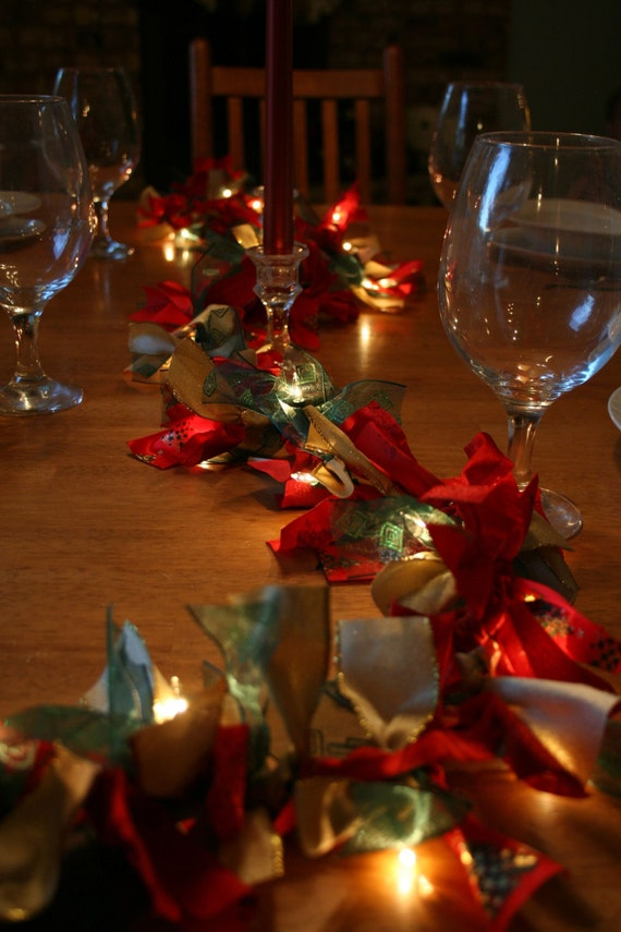 Christmas centerpiece garland holiday by luceaccents