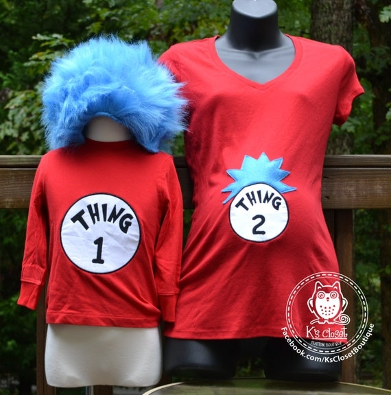 how to make thing one and thing two halloween costumes