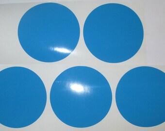 "5""  Light Blue Vinyl Polka Dot Wall Decals, Polka Dot Wall Decals"