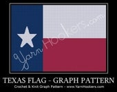 Texas State Flag - Lone Star - Afghan Crochet Graph Pattern - Instant Download
