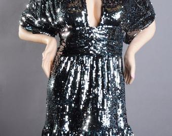 Gorgeous Jovani Teal Sequin Cocktail Dress