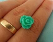 turquoise flower earring,Rose flower earrings,miny flower earring