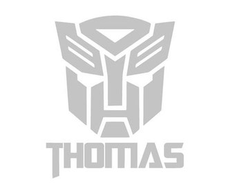"9"" x 11"" Personalized Transformer Autobot Wall Sticker Decal"