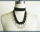 Black Chain Choker Necklace, Alternative Clothing, Cynt D B
