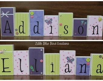 Personalized Childrens Name Wooden Blocks-Twins-Home Decor-Nursery Decor