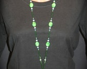 Glorious Green Beaded Lanyard