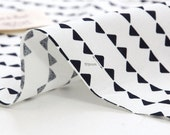Black and White Mini Triangles Cotton Fabric - By the Yard - Geometric By the Yard 42683