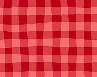 Henry Glass and Co. -FAT QUARTER CUT Cuteville County Fair- Red Gingham by Cathy Heck 7982